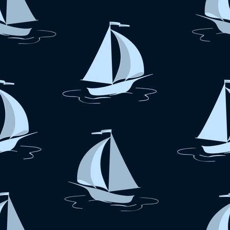 marine: The sailing yacht. Seamless background. Marine and underwater themes.