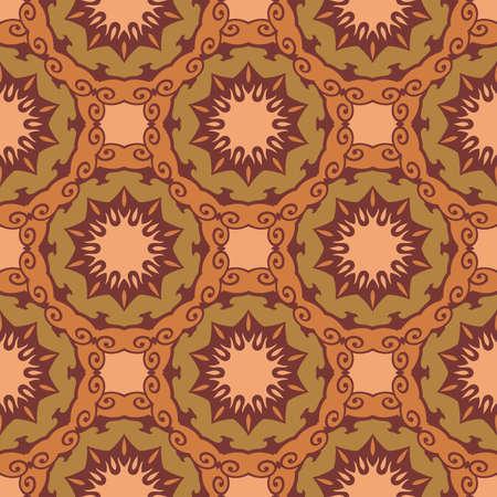 Seamless pattern boho chic. A series of universal patterns. Illustration