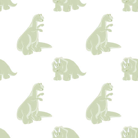 mesozoic: Dinosaurs are kind and funny. Seamless series for young children