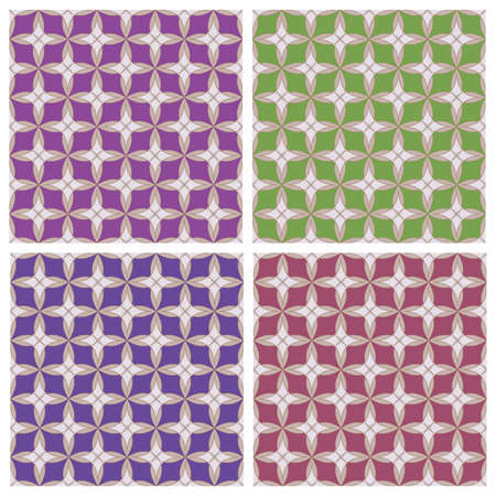 colored backgrounds: Geometric ornament. Colored backgrounds. The collection of symmetric seamless patterns
