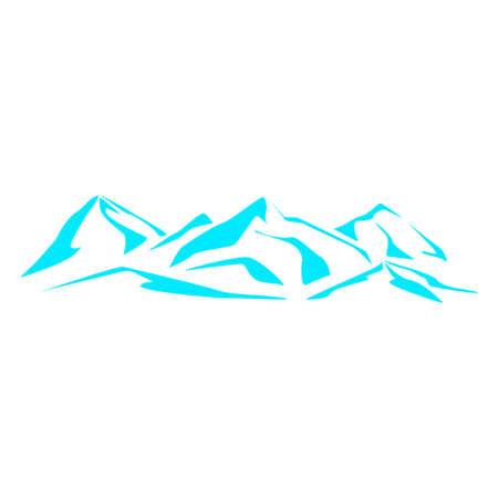 vista: Drawing the mountain range. Symbolic image. Series consisting of mountains