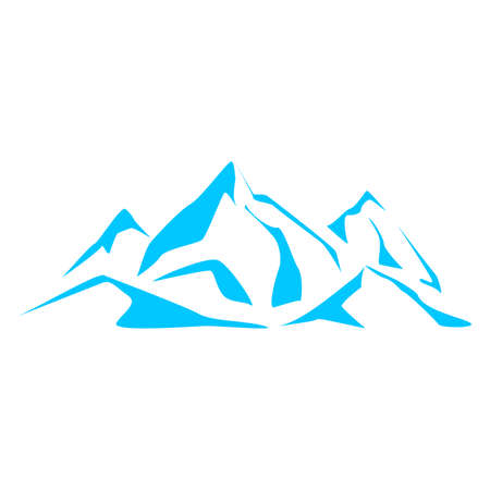 vista: Abstract symbols blue mountains. Series consisting of mountains Illustration