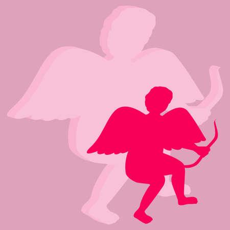 Angel on Valentines day Illustration
