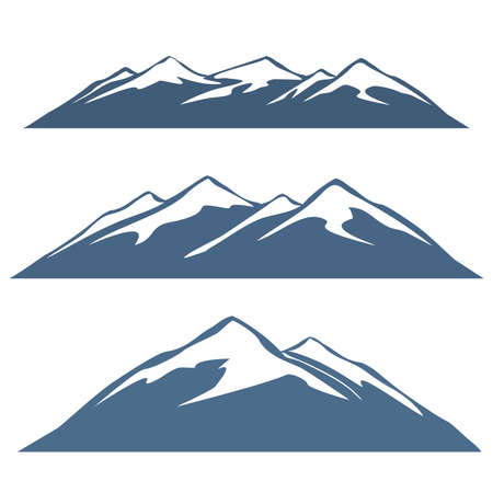 A set of mountain ranges Vettoriali