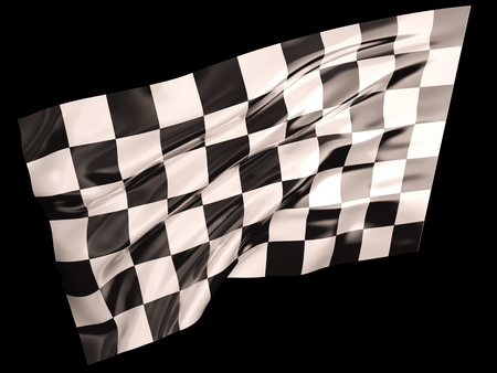 indy: Checkered flag Stock Photo