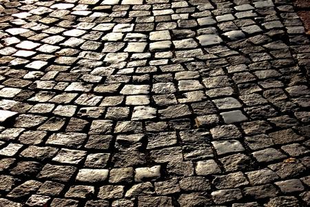 adoquines: Adoquines de piedra Foto de archivo