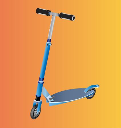 skateboard park: scooter