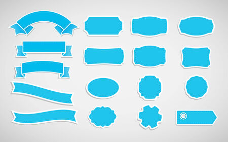 Vector ribbons and labels. Vector