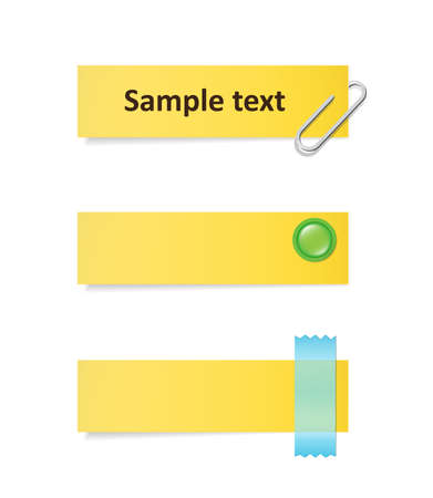 monophonic: Set of yellow notes with various clips.