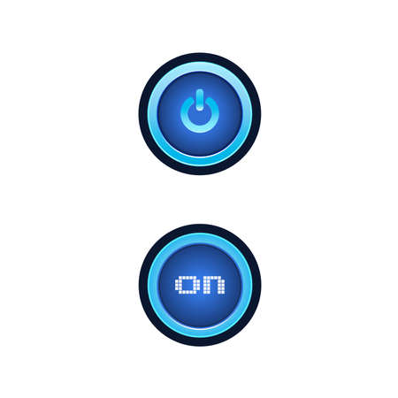 Buttons with blue backlight. Buttons for a site with a blue backlight. Vector