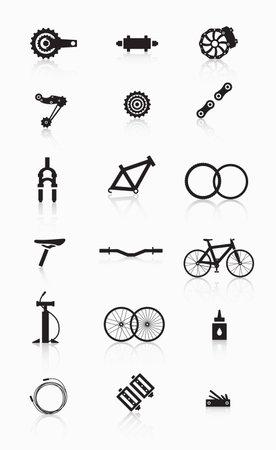 자전거 액세서리. 자전거 부품 및 액세서리의 다양한.