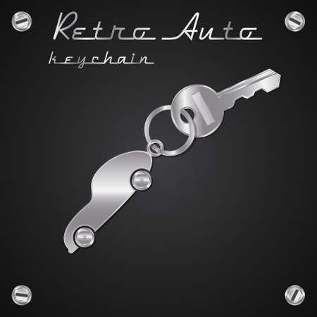 keychain: Keychain car. Illustration