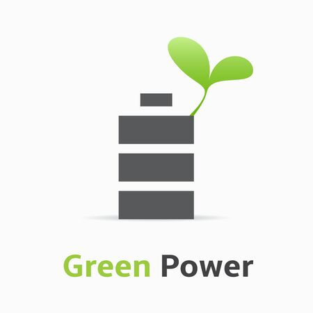 green power: Green Power logo. Illustration