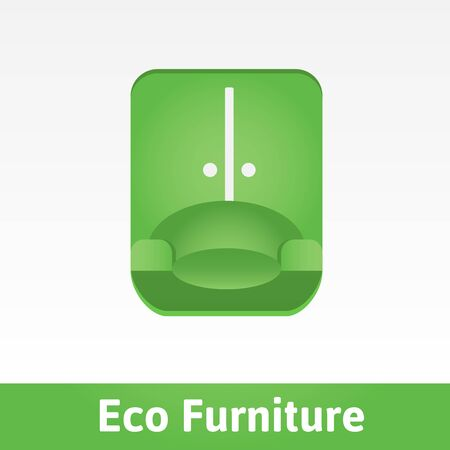 shelving: Drawing on the theme of eco-friendly furniture. Illustration