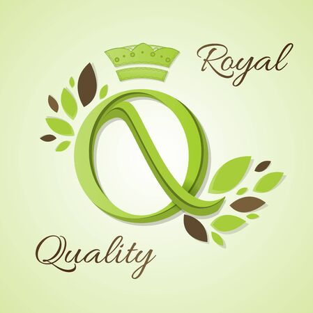 royal quality: Royal Quality. Letter in a decorative design.