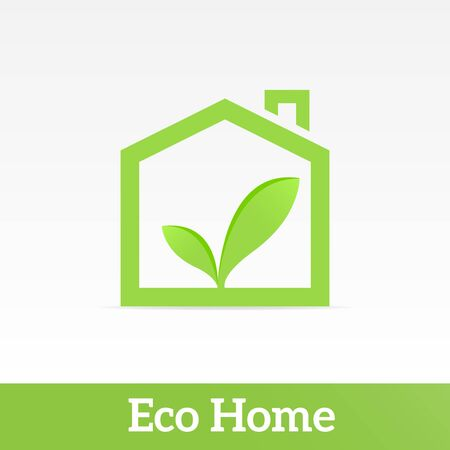 futuristic nature: Eco Home. Drawing on the theme of ecology.