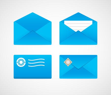 Bright envelopes of various types.