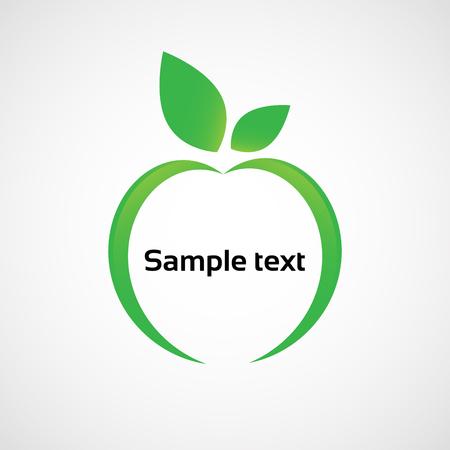 アップル。リンゴのアイコンとして抽象的なイメージ。