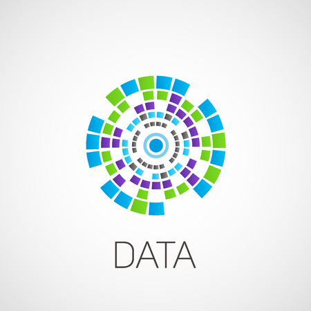 Data. Abstract illustration on the theme of information.
