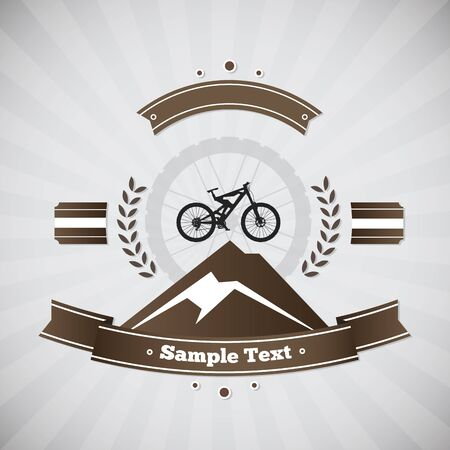downhill: Mountain bike. Label as a mountain bike, downhill competition.