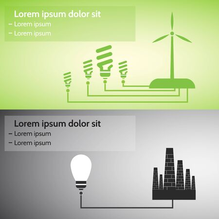 alternative energy sources: Alternative energy sources, conceptual image. Illustration