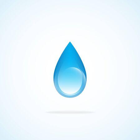 gota agua: Gota de agua. Brillante gota de agua hace usando una mezcla. Vectores