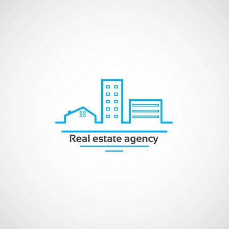 agence immobiliere: Agency.Logo immobili�re pour agence immobili�re dans le style plat.
