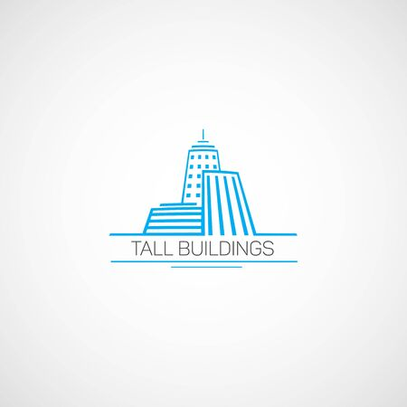 tall buildings: Tall Buildings. for real estate agency in the flat style.