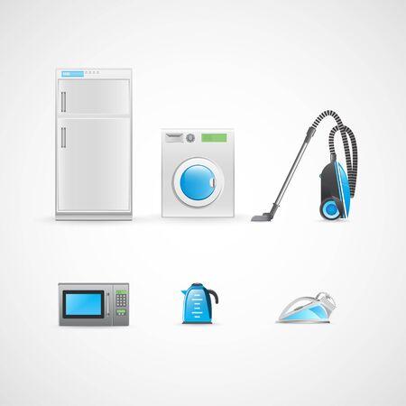 household appliances: Household appliances. Set of different household appliances. Illustration