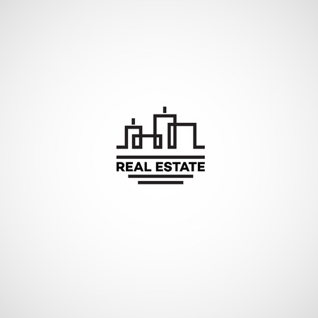 Real estate agency. Logo for real estate agency in the flat style. Illustration