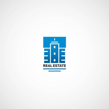 abstract building: Abstract building. Logo for real estate agency in the flat style.