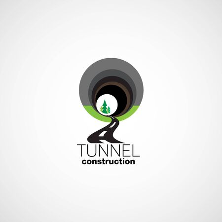 detour: Tunnel. Construction of tunnels. Illustration