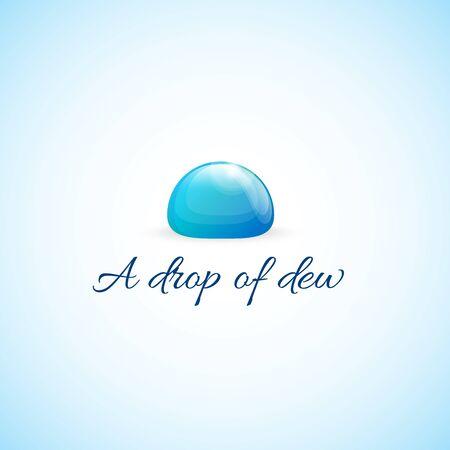 dew: Dewdrop.Bright picture dew drops. Illustration