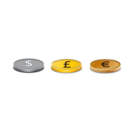 exchange rate: Coins.The image on the theme of the exchange rate.