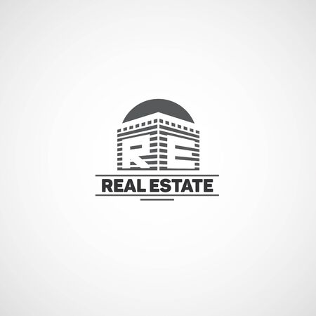 high rise buildings: Logo for real estate agency.