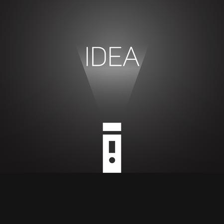 power saving lamp: Flashlight.Glowing flashlight.