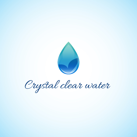 crystal clear: Crystal clear water.Bright picture drop of water.