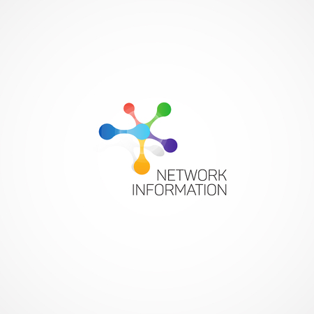 Network Information. Abstract illustration on the theme of information.