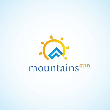 mountaintop: The mountains and the sun.