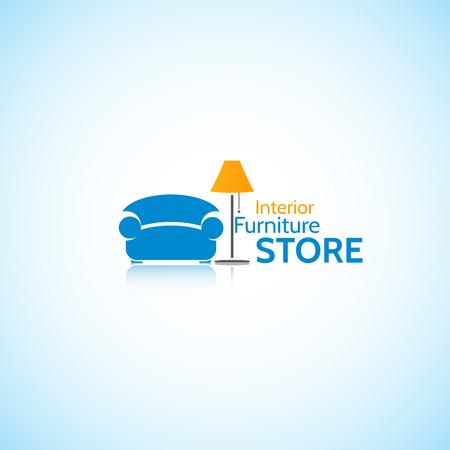 furniture store: Furniture Store.Bright original drawing, on the interior. Illustration