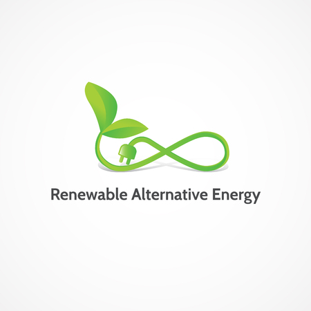 alternative: Renewable Alternative Energy.Alternative energy sources, conceptual image.