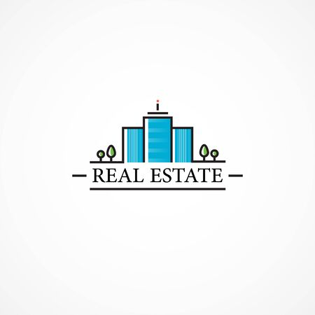 real estate agency: Real estate agency, buildings.High-rise house on property.
