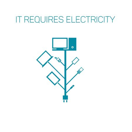 branching: Connect the power supply of mobile devices.