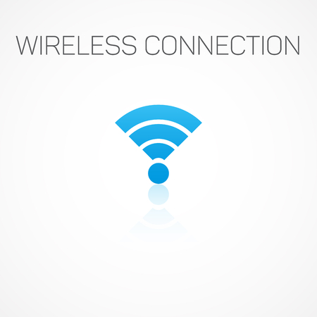 wireless connection: Sign wireless connection. Illustration