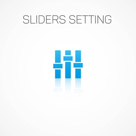 graphic equalizer: Sign of Sliders setting.