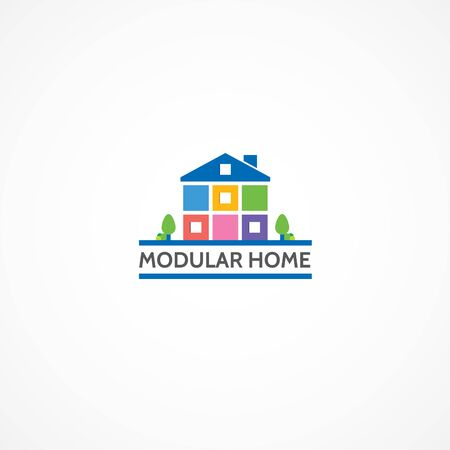 modular home: Modular home. Illustration