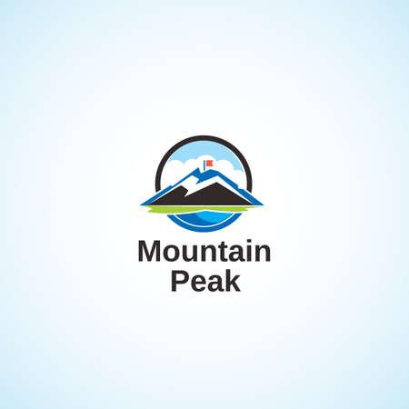 mountain peak: Mountain Peak. Illustration