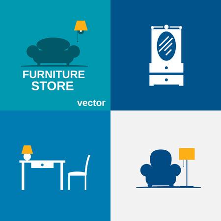 sconce: Furniture set. Illustration