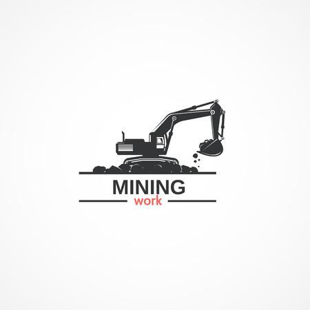 mound: Excavator icon.