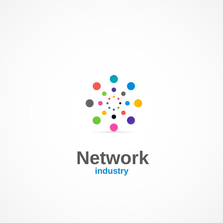 global connection: Network industry. Illustration